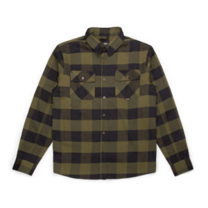 canadian-flannel-shirt-military-green-black-plaid