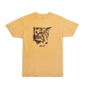 t-shirt-fox-moutarde-vintage